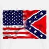 confederate & usa flag - Men's Premium T-Shirt