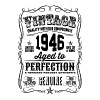 Vintage 1946 Aged to Perfection 70th Birthday gif - Men's Premium T-Shirt
