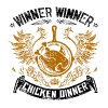 PUBG Winner Winner Chicken Dinner (Black) - Men's Premium T-Shirt