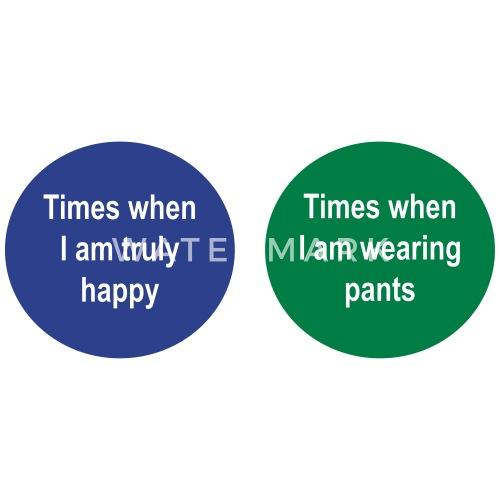 Venn Diagram Times When I Am Happy Pants By Contour Spreadshirt