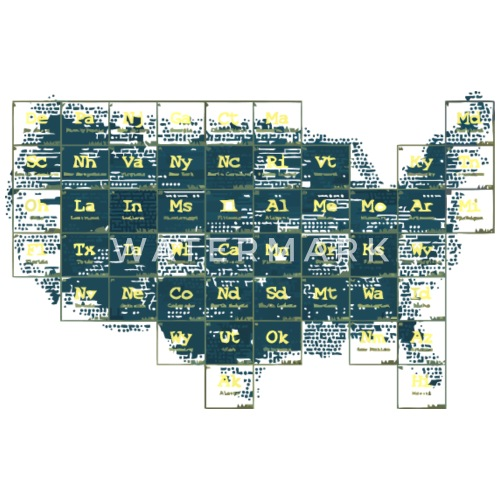 Periodic Table Of The States By Syarifpra29 Spreadshirt