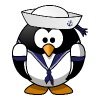 Sailor Penguin Cute Cartoon - Men's Premium T-Shirt