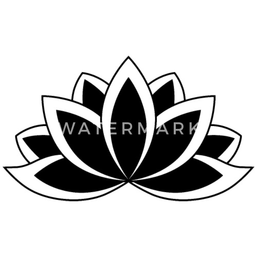 Black and white buddhist symbol lotus flower by dimkadnb spreadshirt mightylinksfo