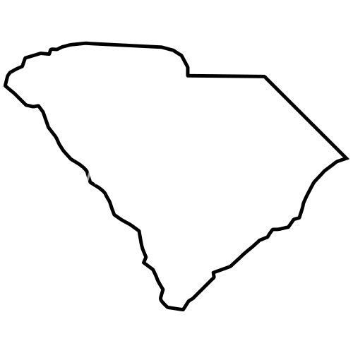 South Carolina Map Landmap Land Country Outline Men S Premium T