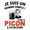 Je suis un homme simple j'aime le picon and les ni - Men's Premium T-Shirt