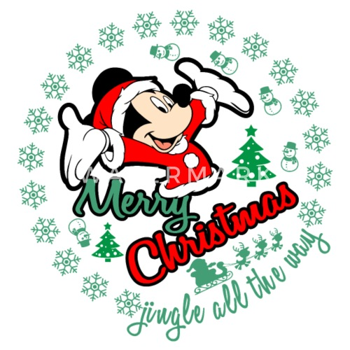mickey merry christmas xmas gift by anjaka spreadshirt - Mickey Merry Christmas