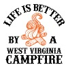Campfire - life is better by a west virginia cam - Men's Premium T-Shirt