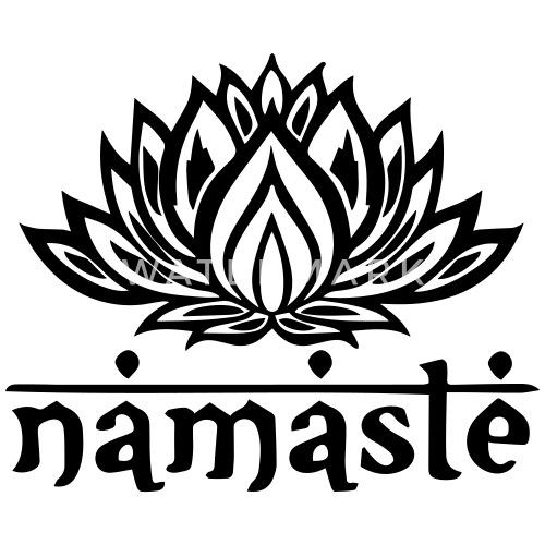 Namaste lotus flower by rawwrdesign spreadshirt mightylinksfo