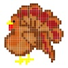 Turkey Thanksgiving Perler Bead Pattern - Men's Premium T-Shirt