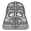 Darth Vader Zentangle - Men's Premium T-Shirt