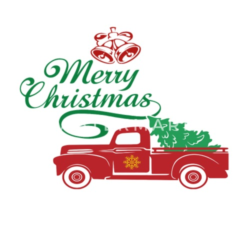 red truck christmas tree vintage red pickup truck by spreadshirt