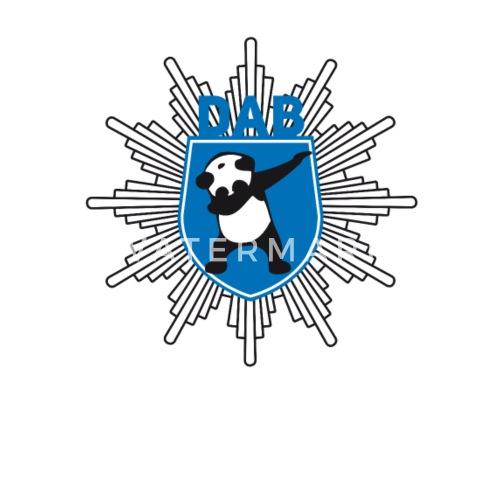 Dab Panda Police Officer Original Button Symbol Lo By Original Star