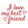 I love my best friend - Men's Premium T-Shirt