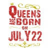 Queens are born on July 22 - Men's Premium T-Shirt
