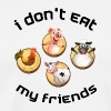 vegan t shirt I dont eat my friends - Men's Premium T-Shirt