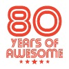 80 Years Of Awesome 80th Birthday - Men's Premium T-Shirt