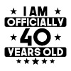 I Am Officially 40 Years Old 40th Birthday - Men's Premium T-Shirt