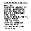 10 Rules For Dating My Daughter (black text) - Men's Premium T-Shirt