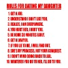 Rules For Dating My Daughter (red text) - Men's Premium T-Shirt