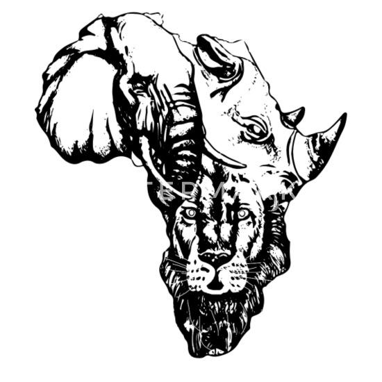 Africa Map COOL SAFARI Men's Premium T Shirt   Spreadshirt