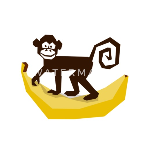 Monkey Banana Zoo Animal Nature Wilderness Gift Fu By Shirtrobot89