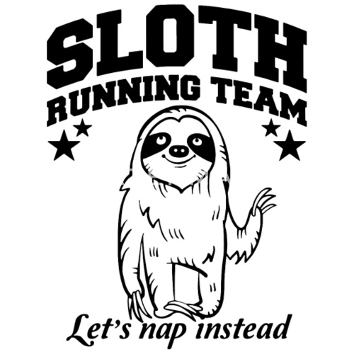 Sloth Running Team Lets Nap Instead Mens Premium T Shirt