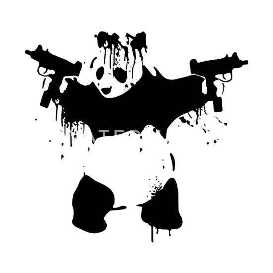 PANDA WITH UZIS GUNS SECOND AMENDMENT AR15 BANKSY Men's