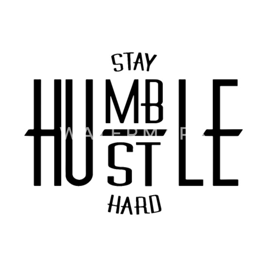stay humble hustle hard hipster t shirt Men's Premium T-Shirt
