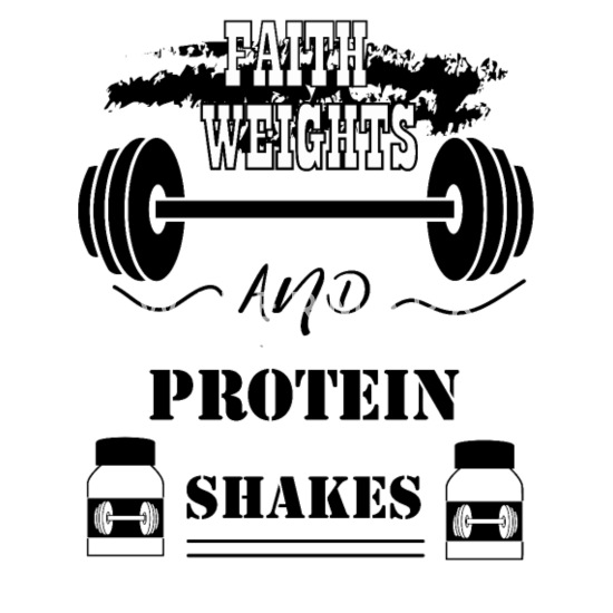 Faith Weights And Protein Shakes Men S Premium T Shirt Spreadshirt