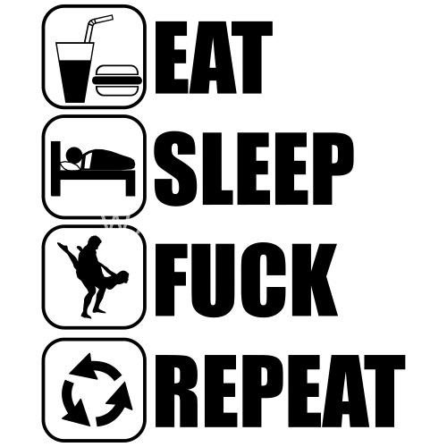 bec18d3bc17262 Eat Sleep Fuck Repeat Men s Premium T-Shirt