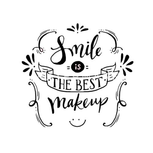 Smile Is The Best Makeup Mens Premium T Shirt Spreadshirt