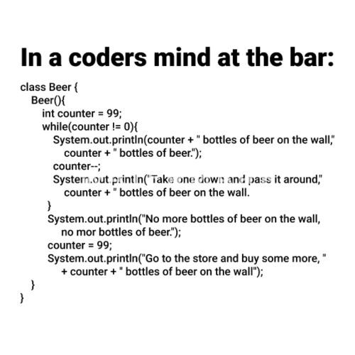 Simple Java 99 Bottles Of Beer Song Lyrics Mens Premium T Shirt