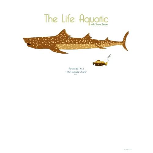 the life aquatic jaguar shark t shirt men's premium t-shirt