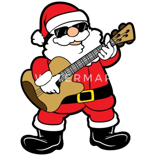 Funny Santa Claus Xmas Merry Christmas Guitar Gift by For More ...