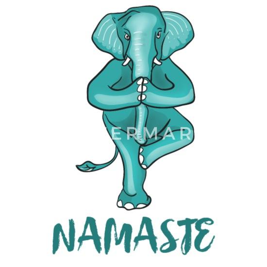 Yoga Elefant Namaste Shiva Meditation Humour Drole T Shirt Premium Homme Spreadshirt