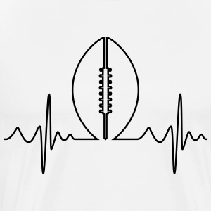 American Football Heartbeat - Men's Premium T-Shirt