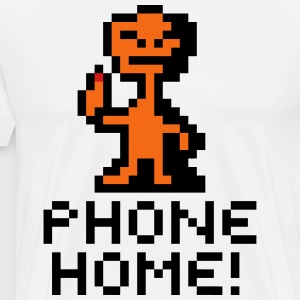 E.T. The Extraterrestrial Phone Home! Pixel Art - Men's Premium T-Shirt
