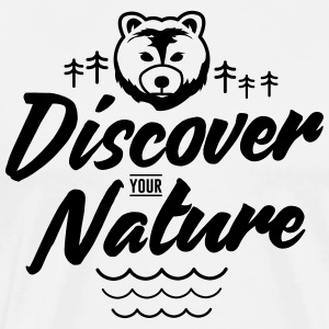 Discover your Nature, Traveling - Men's Premium T-Shirt