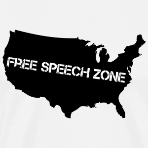 USA - Free Speech Zone - Men's Premium T-Shirt