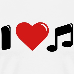 I love music - i heart music - Men's Premium T-Shirt