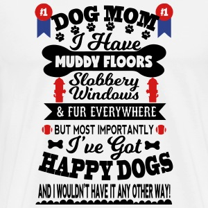 Number One Dog Mom for the Dog lover - Men's Premium T-Shirt