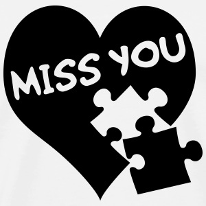 Miss You / Love / Puzzle - Men's Premium T-Shirt