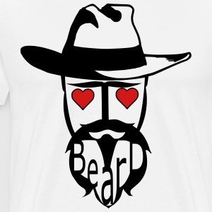 I love beard hat man exclusive design art - Men's Premium T-Shirt