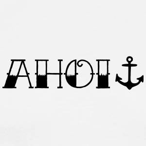 Ahoy with anchor, tattoo style - Men's Premium T-Shirt