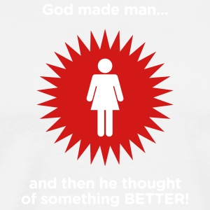God Created Adam & Eve.And Then Something Better! - Men's Premium T-Shirt
