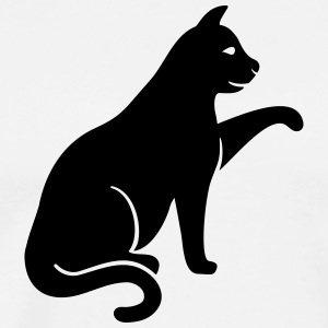 cat silhouette - Men's Premium T-Shirt