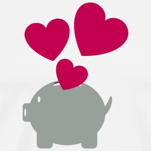 Piggy Bank With Heart - Men's Premium T-Shirt