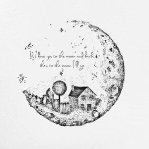 House On The Moon - Men's Premium T-Shirt