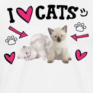 I Love Cats Cute - Men's Premium T-Shirt
