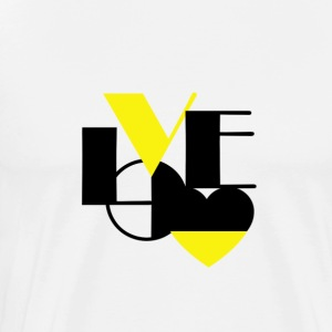 Love Black Yellow - Men's Premium T-Shirt